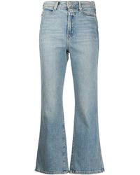 Proenza Schouler Cropped Flared Jeans - Blue