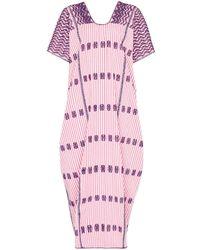 Pippa Holt Striped Maxi Kaftan Dress - Purple