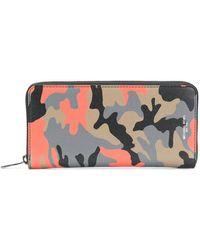 MICHAEL Michael Kors - Harrison Camouflage-print Zip-around Wallet - Lyst
