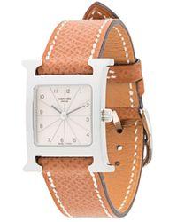 Hermès Наручные Часы Pre-owned H Square 2005-го Года - Коричневый