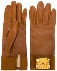 Hermès Pre-owned Leather Gloves - Brown