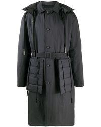 Craig Green Fold ベルテッド パデッドコート - ブラック