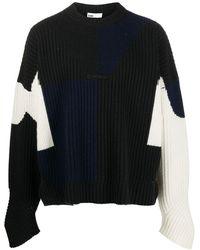GmbH Mies カラーブロック セーター - ブラック