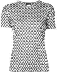 Akris パターン Tシャツ - ブラック