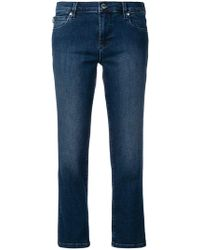 Love Moschino - Low-rise Cropped Jeans - Lyst