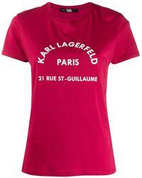Karl Lagerfeld - プリント Tシャツ - Lyst
