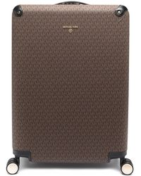 MICHAEL Michael Kors Monogram Logo Large Suitcase - Brown