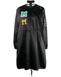 MM6 by Maison Martin Margiela Logo Patches Zip-up Dress - Black