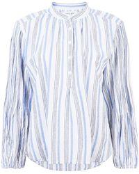 Apiece Apart - Striped Long-sleeve Shirt - Lyst