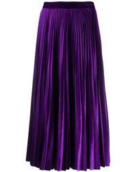 Valentino Accordion Pleat Skirt - Purple