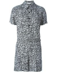Carven - Printed Button Playsuit - Lyst