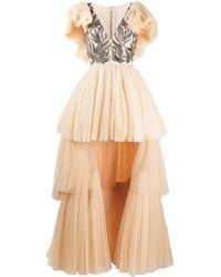 Parlor Robe longue à ourlet asymétrique - Multicolore