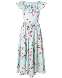 Vivetta - Ruffled Neck Midi Dress - Lyst