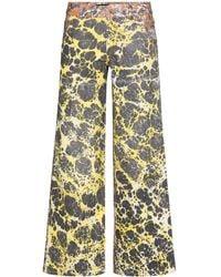 Chopova Lowena Ebrulee Straight-leg Jeans - Brown