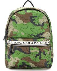 A.P.C. Rugzak Met Camouflage Print - Groen