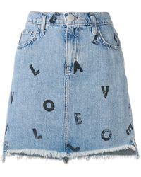 Current/Elliott - Love Letters Denim Skirt - Lyst