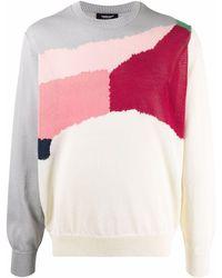 Undercover Pull colour block en maille - Gris