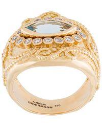 Aurelie Bidermann Cashmere アクアマリン&ダイヤモンド リング - メタリック