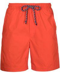 Alex Mill Pull On Tech Shorts - Orange