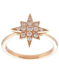 Marchesa 18kt Rose Gold Star Diamond Ring - Metallic