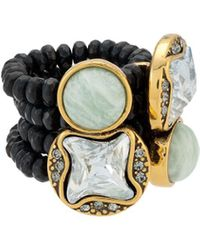Camila Klein Natural Stones Ring - Metallic