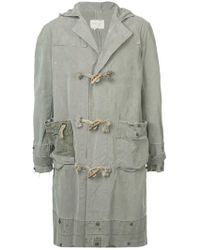 Greg Lauren - Hooded Single-breast Coat - Lyst
