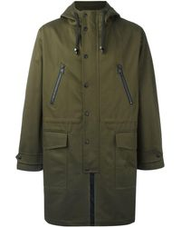 AMI Long Rain Coat - Green
