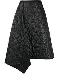 Juun.J テクスチャード スカート - ブラック