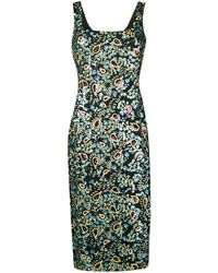 ALEXACHUNG スパンコール ドレス - ブラック