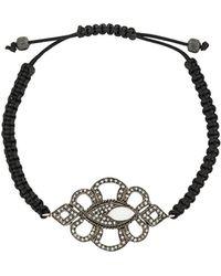 Gemco Diamond Charm Bracelet - Black