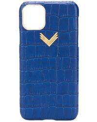 Manokhi Чехол Для Iphone 11 Pro Max С Логотипом - Синий