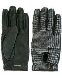 Lardini - Houndstooth Pattern Gloves - Lyst