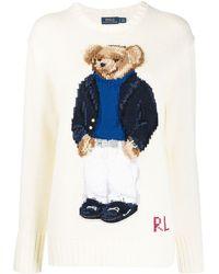 Polo Ralph Lauren Polo Bear Logo Jumper - White