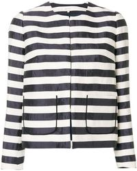 Delpozo - Striped Fitted Jacket - Lyst