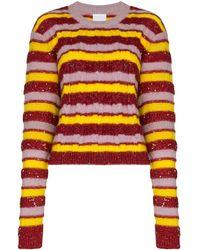 Ashish Stripe Knit Sweater - Multicolor