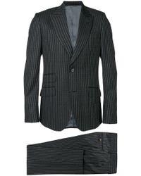 Gucci ピンストライプ スーツ - グレー