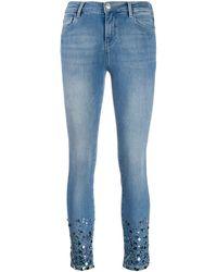 Twin Set Sequin-embellished Skinny Jeans - Blue