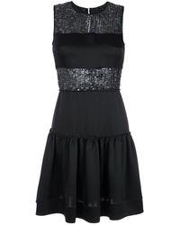 Gloria Coelho Sequin Panelled Dress - Черный
