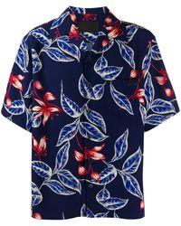 Prada Camicia floreale blu