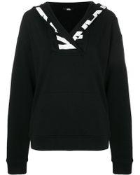 Karl Lagerfeld - Logo Trim Hoodie - Lyst