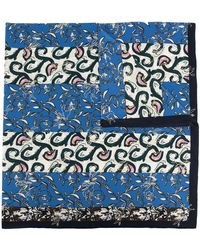 Dior Платок С Принтом - Синий