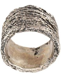 Tobias Wistisen - Wood Effect Ring - Lyst