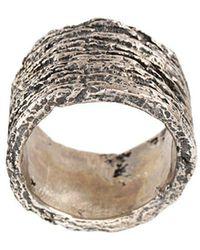 Tobias Wistisen - Ring mit Holz-Effekt - Lyst