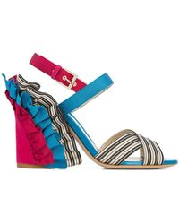 Etro - Ruffle Heel Sandals - Lyst