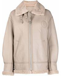 Liska Shearling-trim Sheepskin Jacket - Natural
