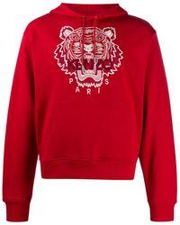 KENZO Худи С Вышивкой Tiger - Красный