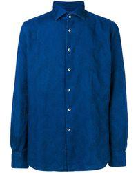 Glanshirt Paisley Embroidered Shirt - Blue