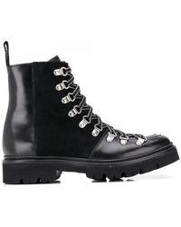 8dfc01c1e709 Lyst - Grenson Nanette Combat Boots in Black
