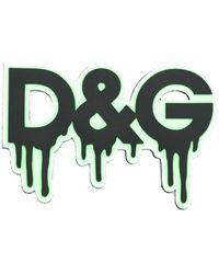 Dolce & Gabbana Logopatch Met Druipend Effect - Zwart
