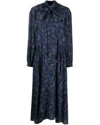 Acne Studios ペイズリー ドレス - ブルー
